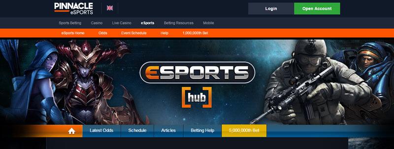 Залагане на електронни игри в Пинакъл